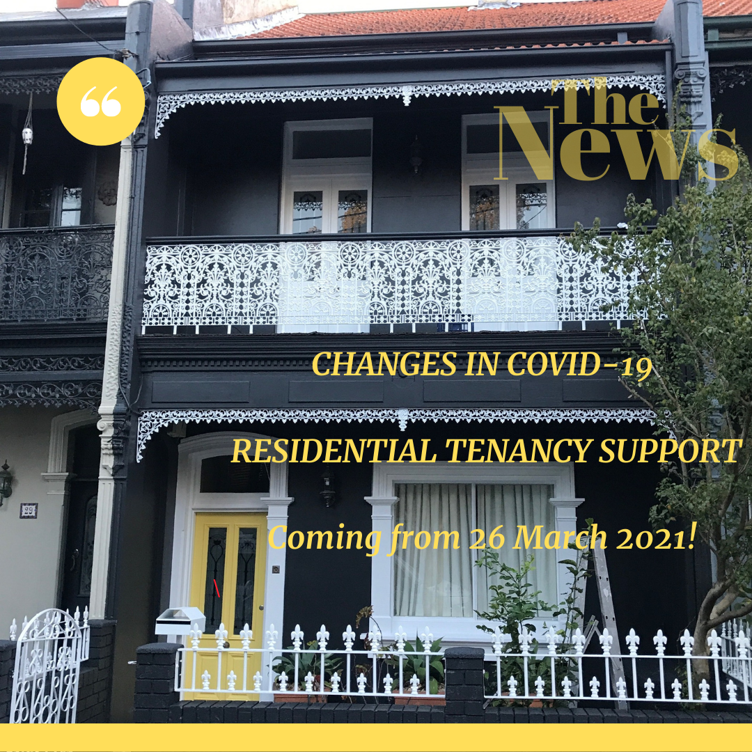 NSW tenants in arrears to be protected after moratorium ends